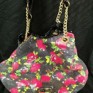 Floral sequin purse